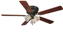 Hugger-mount ceiling Fan Basics