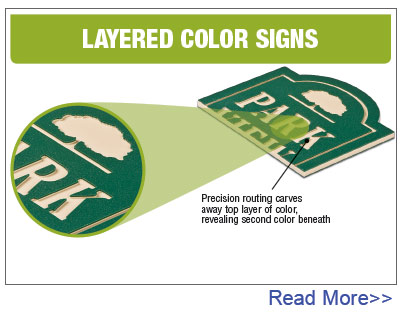 Layered Color Signs