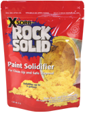 Use paint solidifier to dispose of extra paint