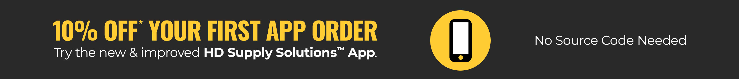 10% Off Your First App Order