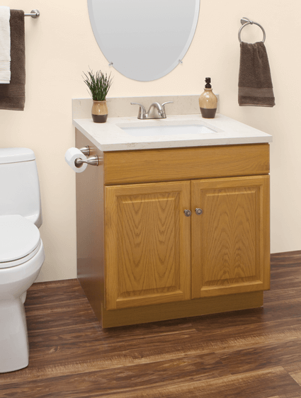 Custom Honey Oak Bathroom Vanities