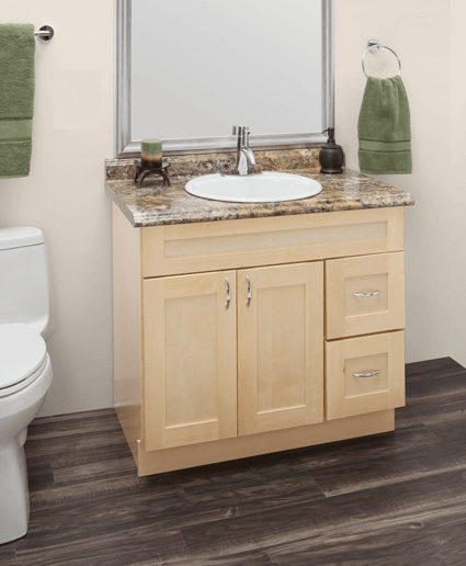Custom Natural Maple Bathroom Vanities