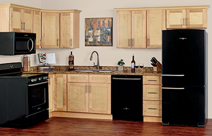 Custom Natural Maple Kitchen Cabinets