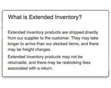 Extended Inventory Description
