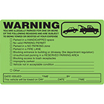 Parking Violation Tags & Stickers