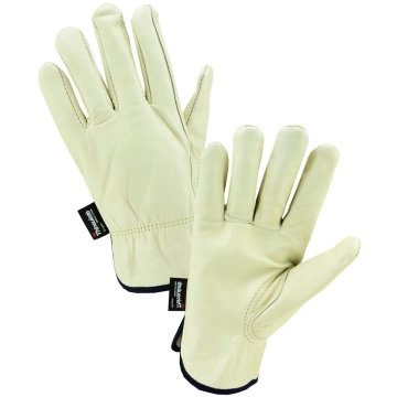 7 Pairs Radnor Small Tan Cowhide Thinsulate Lined Cold Weather Gloves