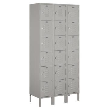 Salsbury Industries Gray Six Tier Box Standard Metal Locker 6 Feet X 15 Inches Hd Supply