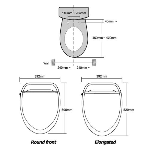 biobidet u spa elongated bidet toilet seat remote control