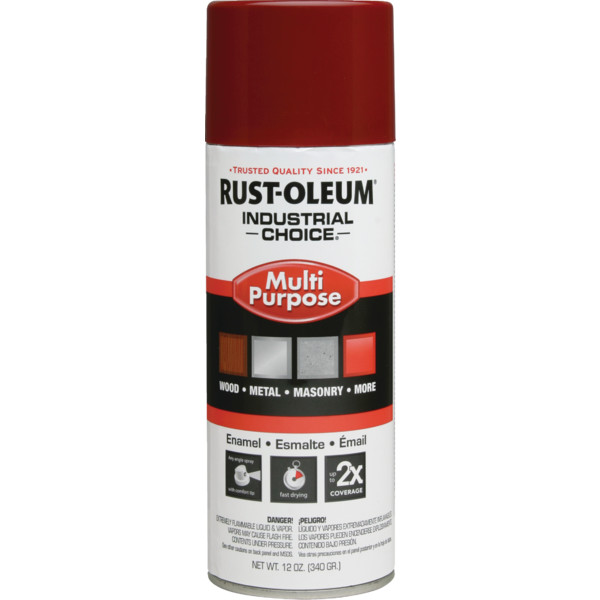 Rust oleum ultra coverage multi purpose spray paint hd supply for Spray paint safety