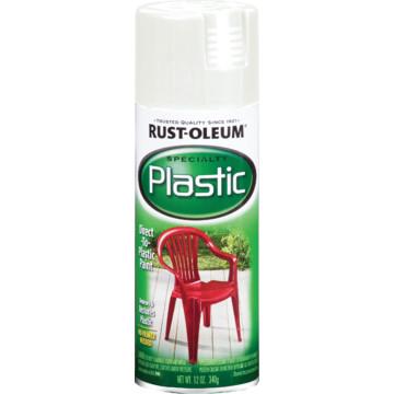 12 oz rust oleum plastic spray paint white hd supply. Black Bedroom Furniture Sets. Home Design Ideas