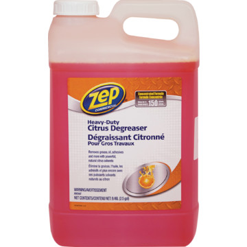 2 5 gallon zep commercial heavy duty citrus cleaner hd for Commercial degreaser for concrete