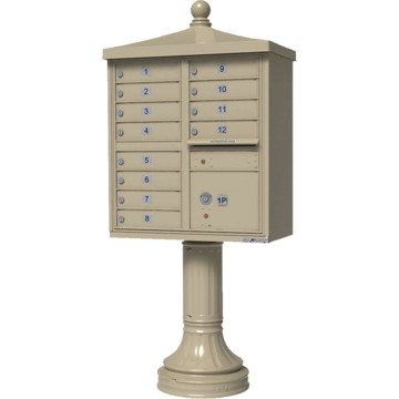 Auth florence cluster box unit 12 mailboxes with for Auth florence