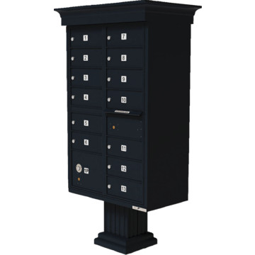 auth florence cluster box unit 13 mailboxes with classic