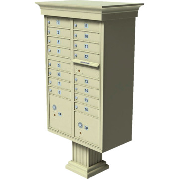 Auth florence cluster box unit 16 mailboxes with classic for Auth florence