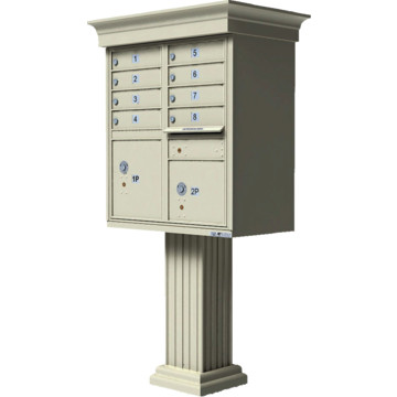 Auth florence cluster box unit 8 mailboxes with classic for Auth florence