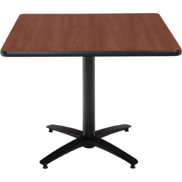 Kfi seating 42 square pedestal table mahogany hpl top for Table exterieur hpl