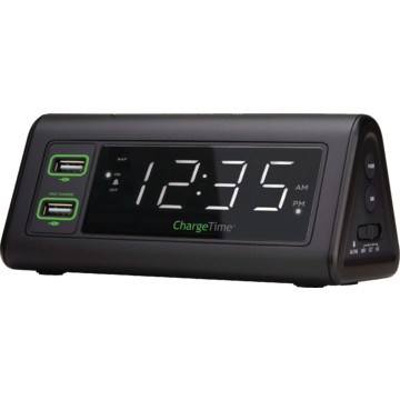 chargetime usb charging alarm clock hd supply. Black Bedroom Furniture Sets. Home Design Ideas