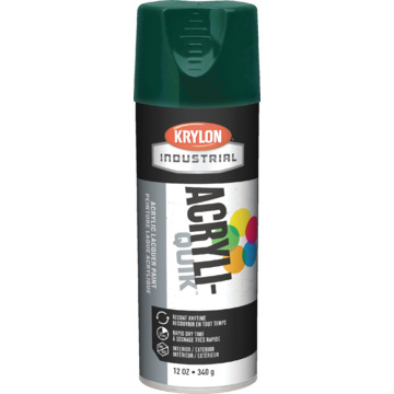 12 Oz Krylon Industrial Acryli Quik Lacquer Spray Paint Gloss Hunter Green Hd Supply