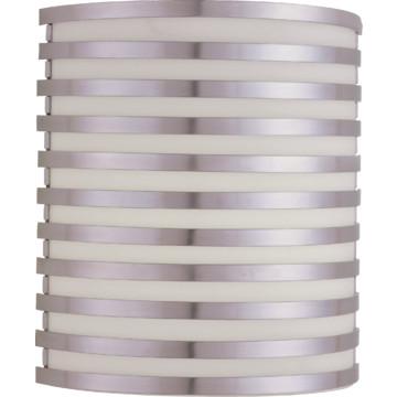 LED Bilbao Wall Sconce, 13 Watt, Satin Aluminum, 120 To 277 Volt HD Supply