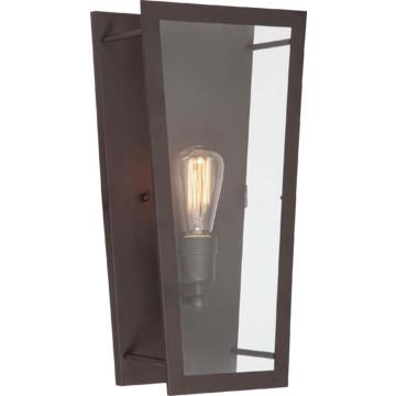 Flat Glass Wall Lights : One-Light Wall Sconce Clear Flat Glass HD Supply