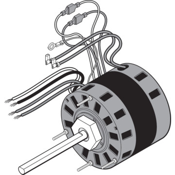Fasco d151 5 0 1 4 1 6 horse power blower motor hd supply for Blower motor capacitor symptoms