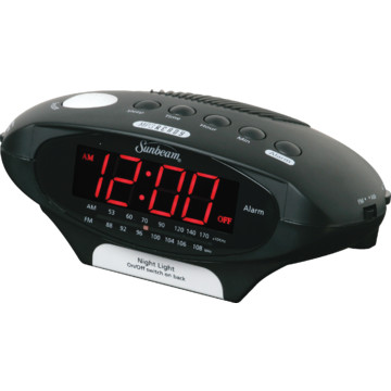 lcd triple display alarm clock with dual usb charging hd supply. Black Bedroom Furniture Sets. Home Design Ideas