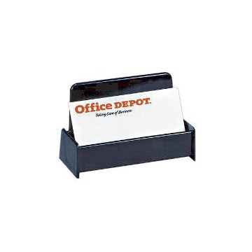 fice Depot Brand 30% Recycled Business Card Holder Black