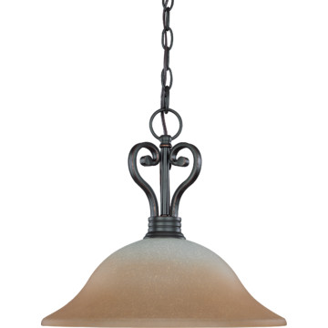 one light pendant fixture sudbury bronze champagne linen glass hd. Black Bedroom Furniture Sets. Home Design Ideas