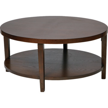 36 Round Espresso Coffee Table In Solid Wood And Wood Veneer Hd Supply