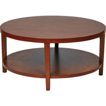 36 Round Cherry Coffee Table In Solid Wood And Wood