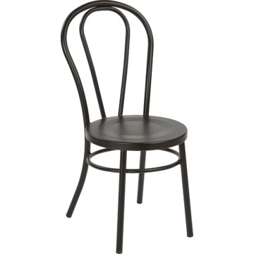 Matte Black Odessa Metal Dining Chair With Backrest Fully Assembled HD Supply