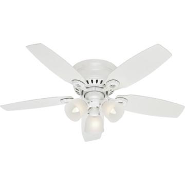 hunter hatherton 46 hugger mount white ceiling fan hd. Black Bedroom Furniture Sets. Home Design Ideas