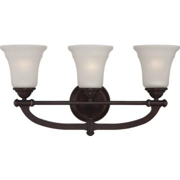 48 Vanity Light Bronze : Three-Light Vanity Georgetown Bronze HD Supply