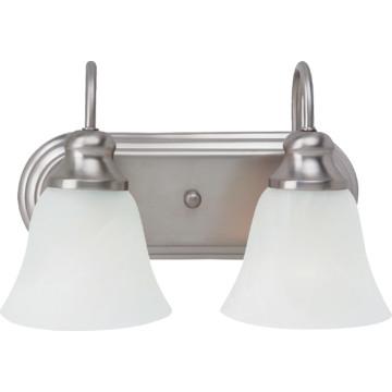 windgate two light fluorescent vanity fixture brushed. Black Bedroom Furniture Sets. Home Design Ideas