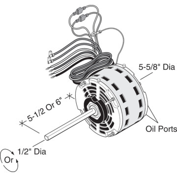 Replacement direct drive blower motor with permanent split for Blower motor capacitor symptoms
