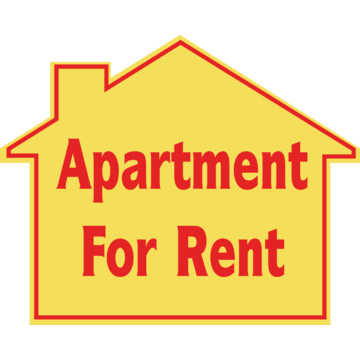 promotional apartment for rent house sign 22 1 2 x 18 hd supply. Black Bedroom Furniture Sets. Home Design Ideas
