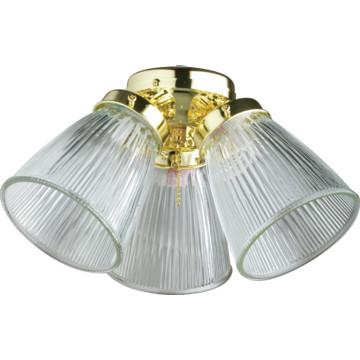 incandescent three light ceiling fan light kit polished. Black Bedroom Furniture Sets. Home Design Ideas
