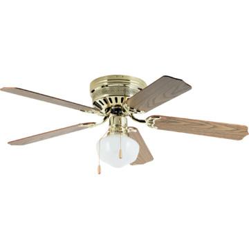 52 hugger mount ceiling fan polished brass schoolhouse. Black Bedroom Furniture Sets. Home Design Ideas