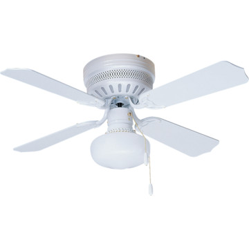 42 hugger mount ceiling fan white schoolhouse light kit. Black Bedroom Furniture Sets. Home Design Ideas
