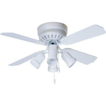 42 hugger mount ceiling fan white bullet light kit hd supply. Black Bedroom Furniture Sets. Home Design Ideas