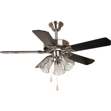 """Seasons 42"""" Dual Mount Ceiling Fan Brushed Nickel Tulip"""