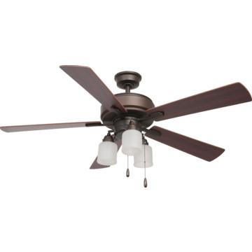 "Seasons 52"" Ceiling Fan With Adjustable Down Light Oil"