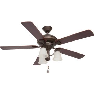 "Seasons 52"" Ceiling Fan With Reversible Down Light Oil"