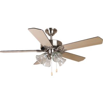 """Seasons 52"""" Dual Mount Ceiling Fan Brushed Nickel Tulip"""