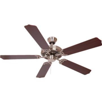 """Seasons 52"""" Dual Mount Ceiling Fan Brushed Nickel"""