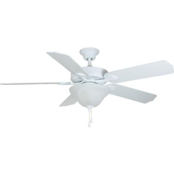hunter 52 hugger mount ceiling fan white opal bowl light. Black Bedroom Furniture Sets. Home Design Ideas