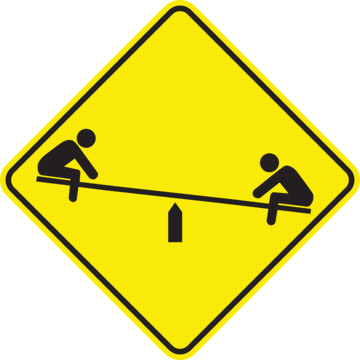 Playground Traffic Sign, High Intensity, | HD Supply