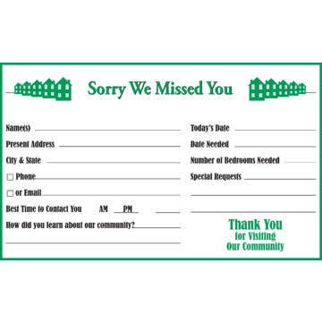 Sorry We Missed You Door Sign
