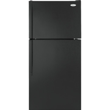 Whirlpool 18 Cubic Feet Refrigerator Right Hand Black 28 Quot W
