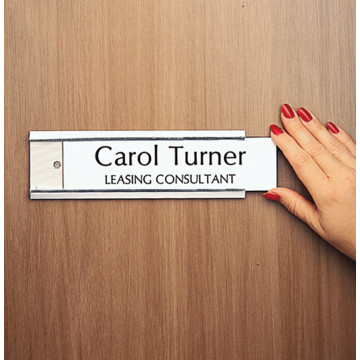 Interior door nameplate holder silver hd supply for Door name plates